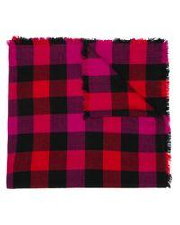 Woolrich チェック スカーフ Pink