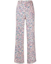 Pantaloni sartoriali a fiori di N°21 in Multicolor
