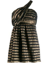 Saint Laurent ラメストライプ ドレス Metallic