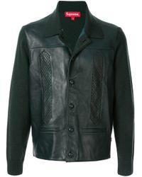Supreme Green Contrast Back Jacket for men