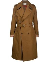 Wales Bonner Brown Long Trench Coat for men