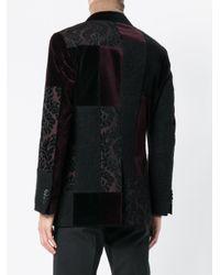 Etro Black Contrast Panel Jacket for men
