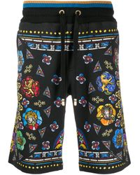 Шорты-бермуды С Принтом Dolce & Gabbana для него, цвет: Black
