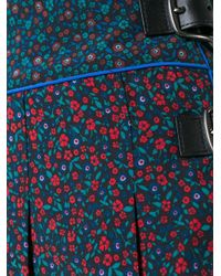 COACH Multicolor Floral Print Midi Skirt