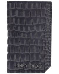 Jimmy Choo - Gray Clifford S Billfold Wallet for Men - Lyst