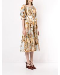 Vestito con stampa Altitude di Karen Walker in Multicolor