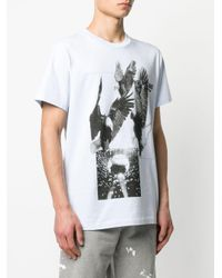 メンズ Helmut Lang Three Eagles Tシャツ Blue