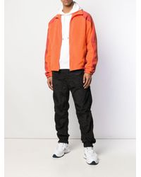 メンズ GmbH カラーブロック ジャケット Orange