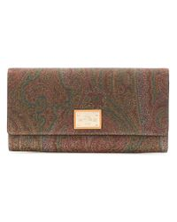 Etro Brown Printed Purse