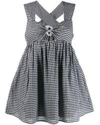 Расклешенное Платье Мини В Клетку Marysia Swim, цвет: Black