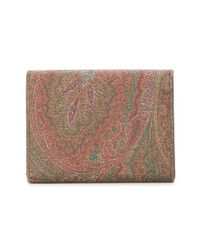 Etro - Brown Trifold Wallet - Lyst