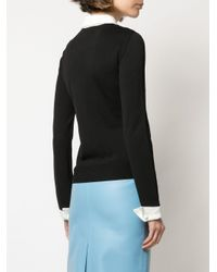 Jersey con capa en contraste Boutique Moschino de color Black
