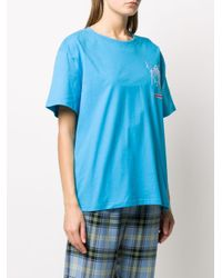 CHARLES JEFFREY LOVERBOY プリント Tシャツ Blue