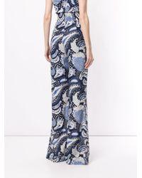Pantalones anchos con motivo de cashmere Alice McCALL de color Blue