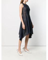 Vestido de punto con motivo de pied de poule pre-owned Dior de color Blue