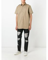 Palm Angels - Black Ripped Regular Jeans for Men - Lyst