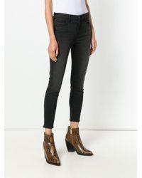 J Brand Cropped Slim-fit Jeans Black