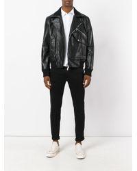 DSquared² Black Biker Jacket for men