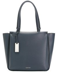 CALVIN KLEIN 205W39NYC - Blue Front Pocket Tote Bag - Lyst