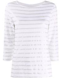 Majestic Filatures メタリック ストライプ Tシャツ White