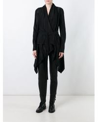 Masnada Black Belted Pointy Jacket