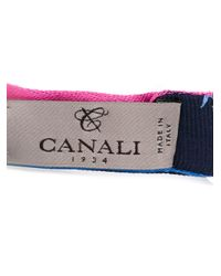 Canali Blue Wove Fish Bow Tie for men
