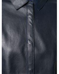P.A.R.O.S.H. ボックスシルエット シャツジャケット Blue