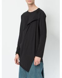 Moohong - Black Asymmetric T-shirt for Men - Lyst