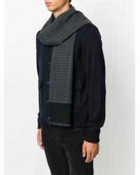 Écharpe monogrammée Ferragamo pour homme en coloris Gray
