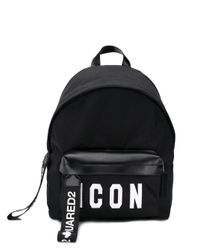 DSquared² Black Icon Backpack for men