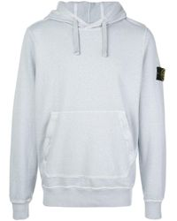Stone Island Gray Hooded Sweatshirt for men