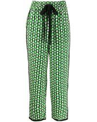 Diane von Furstenberg Lulu クロップドパンツ Green