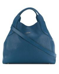 Lanvin - Blue Mini Cabas Tote Bag - Lyst