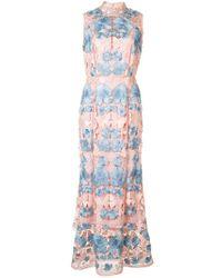 Marchesa notte - Pink Floral Dress - Lyst