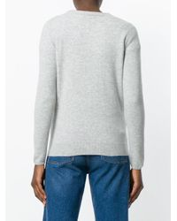 N.Peal Cashmere - Gray V-neck Cardigan - Lyst