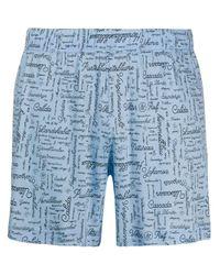Viktor & Rolf Blue All-over Print Boxers for men