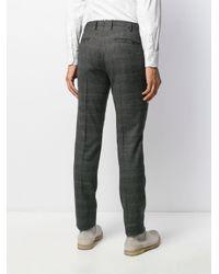 Pantalon de costume à carreaux Incotex pour homme en coloris Black