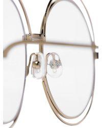 Chloé ラウンド 眼鏡フレーム Metallic