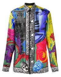 Chemise Magna Grecia Versace pour homme en coloris Black