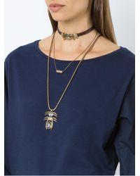 Camila Klein - Metallic Leather Trim 3-necklace Set - Lyst