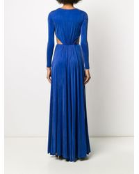 Elisabetta Franchi カットアウト ドレス Blue