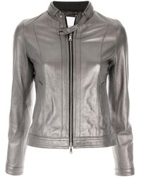 Veste ajustée zippée Loveless en coloris Metallic