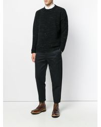 Roberto Collina - Black Classic Knitted Sweater for Men - Lyst