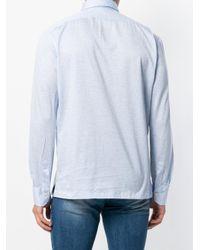 Kiton - Blue Longsleeved Polo Shirt for Men - Lyst