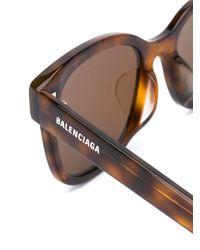 Balenciaga スクエアフレーム サングラス Brown