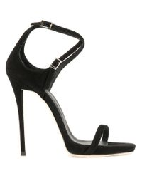 Giuseppe Zanotti Black Darcie Sandals