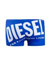 メンズ DIESEL ロゴ トランクス水着 Blue