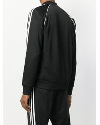 メンズ Adidas ジップアップ トラックジャケット Black