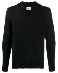 Maglione con scollo a V di Dondup in Black da Uomo