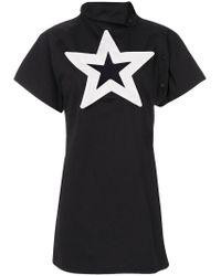 KTZ - Black Star Cut-out Dress - Lyst